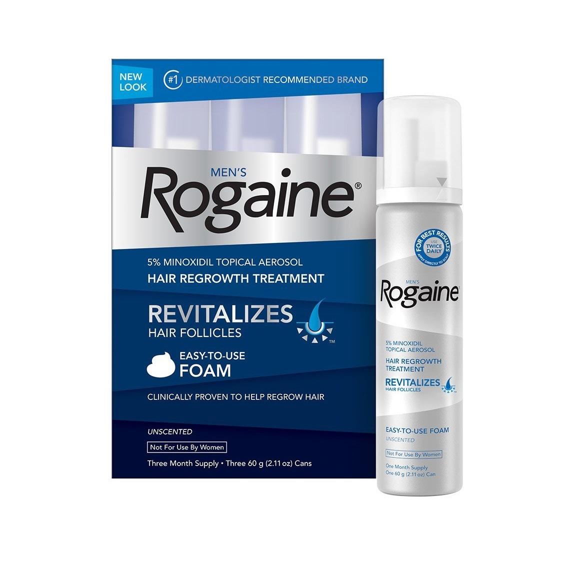 Rogaine Foam 3 Minoxidil Topical Aerosol
