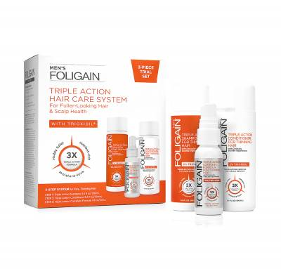 Foligain® USA Triple Action Hair Care System (Για άνδρες )