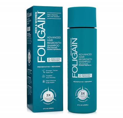 Foligain advanced hair regrowth shampoo USA(Unisex με μινοξιδίλη 2% + τριοξιδίλη 2%)